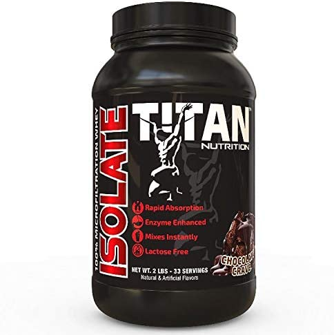 Titan Isolate- 100 microfiltrated whey Isolate Chocolate Crave