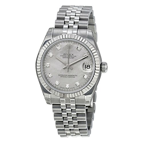 Rolex Women's m178274-0042 Datejust White mother of pearl Watch