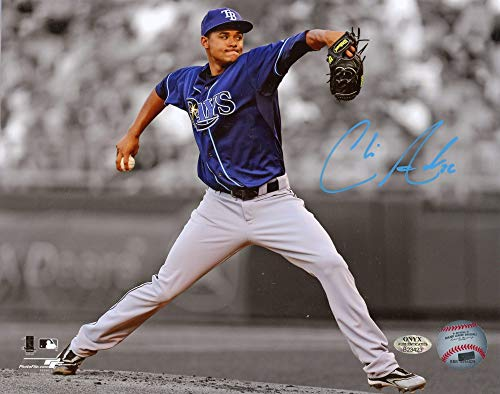 (Chris Archer Autographed Tampa Bay Rays 8x10 Photo - Onyx COA)
