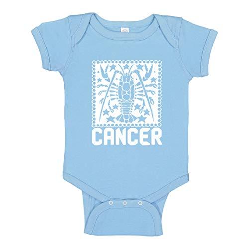 Baby Romper Cancer Zodiac Astrology Light Pink for Newborn Infant Bodysuit