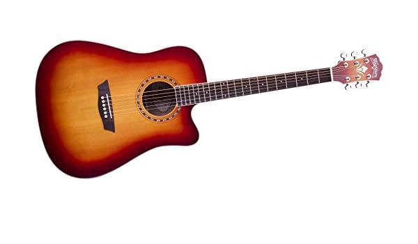 Washburn wd7s serie wd7sceacs acústica guitarra eléctrica: Amazon.es ...