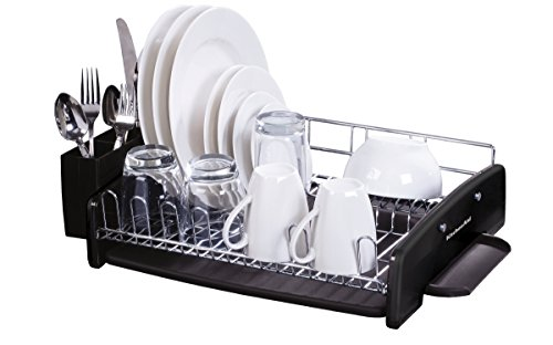 kitchenaid 3 piece dish rack set black new. Black Bedroom Furniture Sets. Home Design Ideas