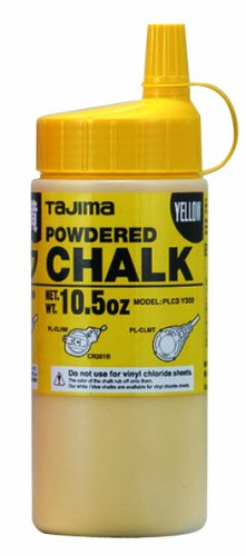 (Tajima PLC2-Y300 Yellow Ultra Fine Snap Line Chalk, with easy fill nozzle 10.5 oz.)