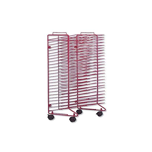 "Mobile Drying Rack For Dormroom, 30"" x 21"" x 17"", Metal, Red"