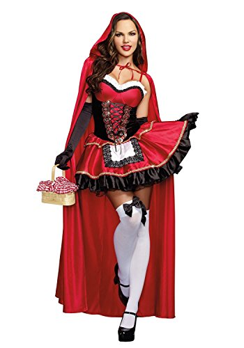 Plus Size Uk Nurse Zombie Costume (Musamk Voluptuous Women's Little Red Riding Hood Costume As ShownMedium)