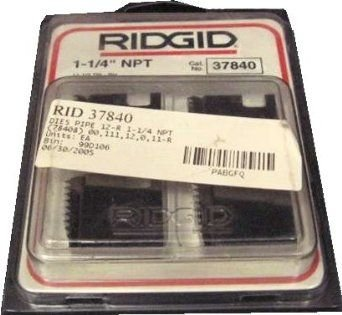 Ridgid Manual Threading Pipe threader Die Set 1 1/4''  12-R NPT Alloy