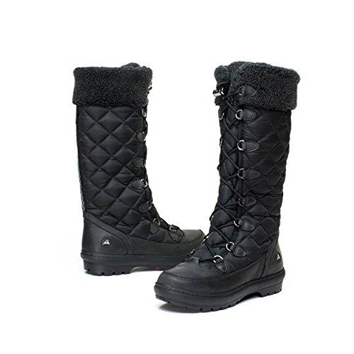 Clarks Icey Warm GTX - Botas de nieve de material sintético mujer negro - Black - Schwarz (Black Synthetic)