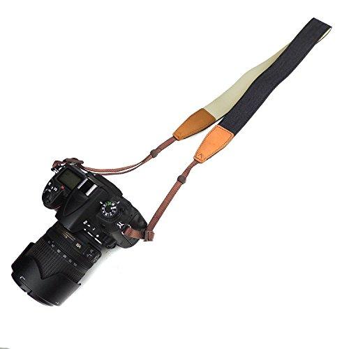 chmete-real-leather-denim-camera-neck-strap-for-dslr-camera-black