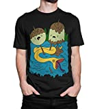 Princess Bubblegum Rock T-Shirt, Men's Women's Adventure Time Tee (M - Male) Black
