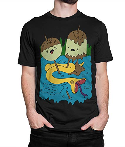- Princess Bubblegum Rock T-Shirt, Adventure Time Tee, (M - Male)