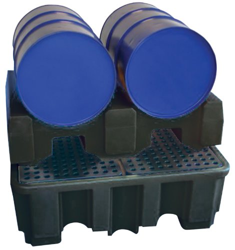 - DRUM RACK FOR TWO DRUMS - Heavy duty polyethylene allows for two 205L drums to be mounted on to a four drum spill containment pallet (Draper Stock No. 44059). Sold loose. by DRPTS
