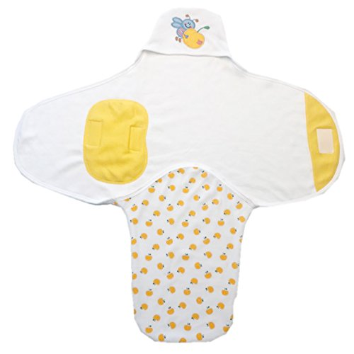 TENDER TOUCH Yellow Cotton Print Swaddle For Baby