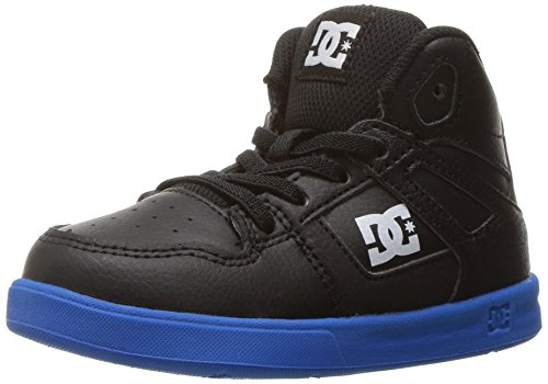 DC Shoes DC Youth Rebound Skate Shoes Sneaker, Black/Royal, 7 M US Little Kid