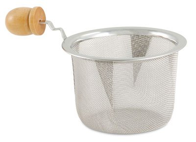 3in Diameter Stainless Steel Mesh Strainer with Wooden Handle