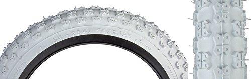 """Sunlite MX3 BMX Tires, 14"""" x 2.125"""", White/White"""