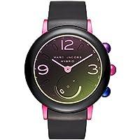 Marc Jacobs Women's Riley Aluminum and Rubber Hybrid Smartwatch, Color: Pink, Black (Model: MJT1003)