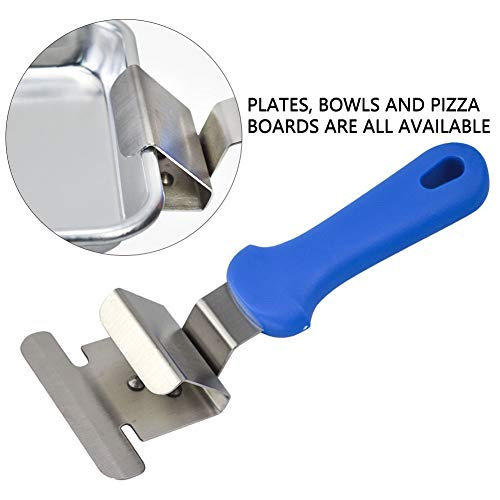 Pan Gripper Clip Handle Pizza Pan Grippers Tools for Moving Hot Plate Dishes Bowl Grippers Pizzas Retriever Tongs