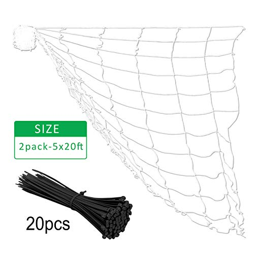 Gardzen Polyester Plant Trellis Netting with 20pcs Cable Ties, 6