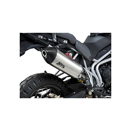 11-16 TRIUMPH TIGER800XC: Yoshimura RS-4 Slip-On Exhaust (Race/Stainless Steel With Carbon Fiber End -