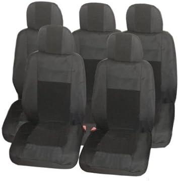5x Sitze Luxus Sitzbezüge Schonbezüge Schonbezug Schwarz Auto
