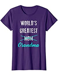 World's Greatest Mom Grandma Shirt, Pregnancy Announcement