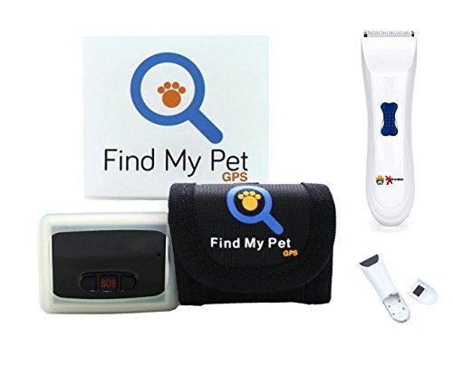 Find My Pet Worldwide GPS Dog Tracking System with Real Time Alerts to Free App for PC, iPhone or Android - GPS Dog Collar Kit for 2 Dog Bundled with Free eXtreme Products Dog Training Clicker
