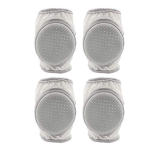 CalMyotis Baby Knee Pads, Adjustable Crawling Kneepads, Unisex Anti-Slip Breathable, Grey, 2 Sets