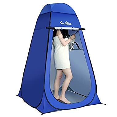 Campla Portable Pop up Dressing/Changing Tent Beach Toilet Shower Changing Room Outdoor Shelter with Carrying Bag (Blue)