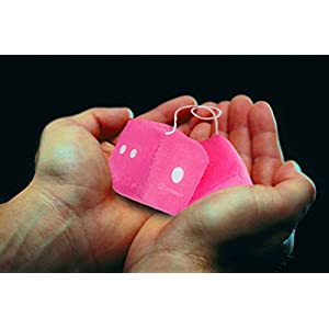 """Zone Tech Pink Hanging 3"""" Square Fuzzy-soft Dice with White Dots - Pair"""