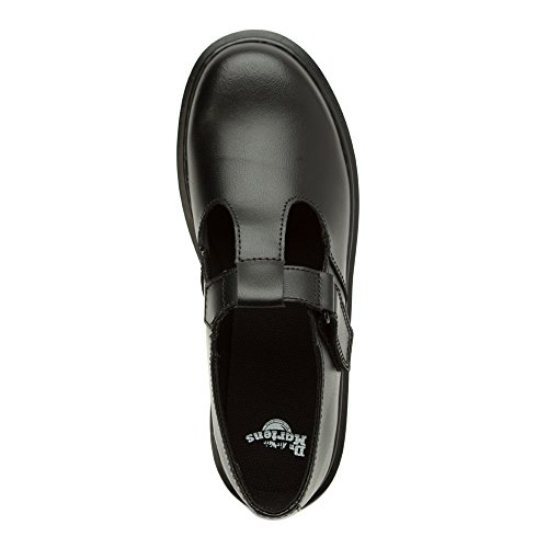 Dr. Martens Goldie Y Black Leather Youth School Shoes Black