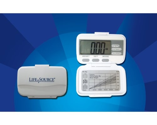Lifesource XL-15 Pedometer-Step, Distance & Calorie Counter