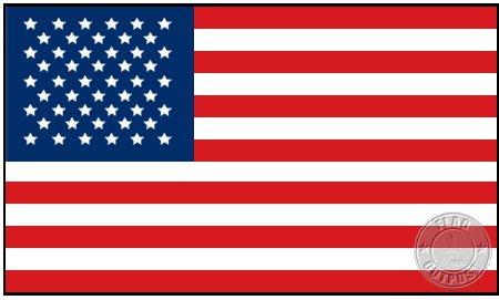 Amazon com : American Flag 5 x 8 Cotton Flag : Outdoor Usa