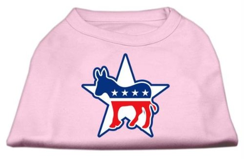 Democrat Dog T-shirt (Mirage Pet Products 12-Inch Democrat Screen Print Shirt for Pets, Medium, Light Pink)