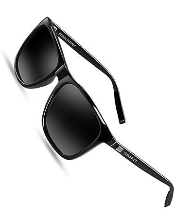 7ff7b7dec2 SUNMEET Gafas de sol Hombre Polarizadas Clásico Retro Gafas de sol para  Hombre UV400 Protection S1001