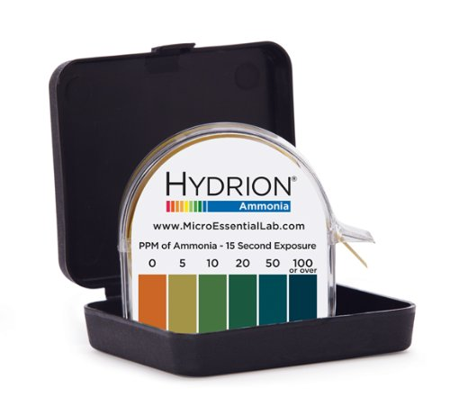 Micro Essential Lab AM-40 Hydrion Ammonia Meter Test Paper Roll, 0 to 100ppm Range, 15' Length ()
