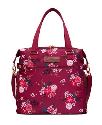 - Sarah Wells Lizzy Breast Pump Bag (Berry Bloom)
