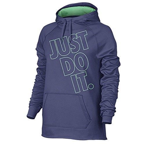 Nike Womens Therma Trening Hoodie Lilla / Grønn