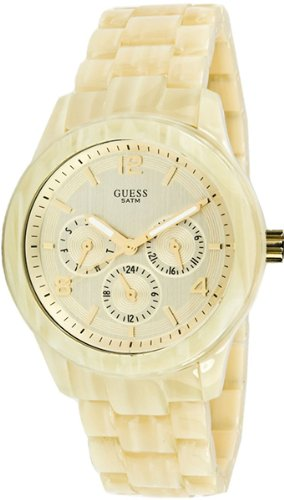 Guess Spectrum Alloy with imitation aluminum rubber Spay Women's Watch - Cream
