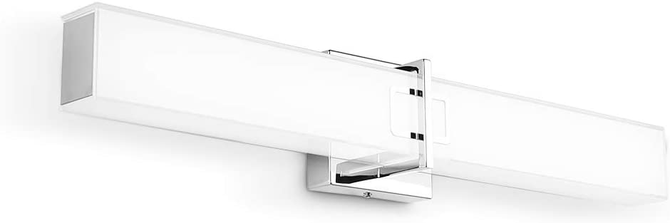 """HOPSON LED Vanity Lighting for Bathroom 23"""" 24W Chrome Bath Wall Light Fixtures Over Mirror with Frosted Glass 6000K"""