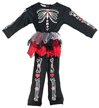 Bodysocks® Disfraz del día de los Muertos para niñas (1-2 años ...