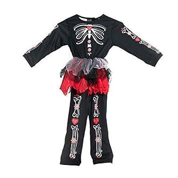 Bodysocks® Disfraz del día de los Muertos para niñas (2-4 años ...