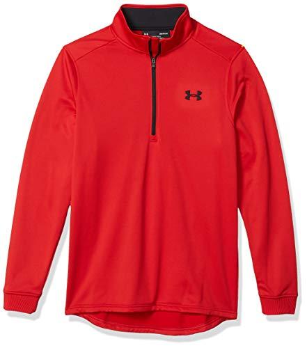 Under Armour Herren Armour Fleece 1/2 Zip, sportliches Longsleeve mit Half Zip, atmungsaktives & elastisches Sportshirt für Männer