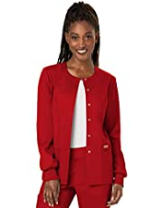 WW Revolution by Cherokee Womens Snap Front Warm-up Jacket