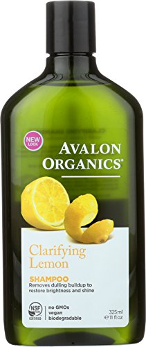 Avalon Organics Shampoo, Clarifying Lemon, 11 Fluid Ounce (Pack of 2)