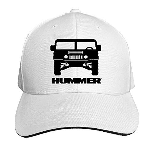 GGLDAN Hummer-Logo Adjustable Baseball Caps Vintage Sandwich Hat Sandwich Cap Peaked Trucker Dad Hats White