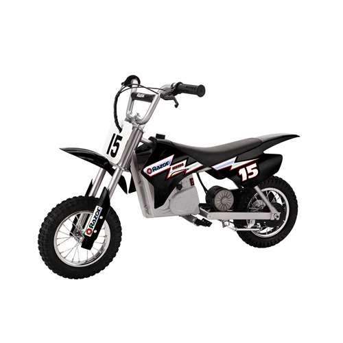 - Razor MX400 Dirt Rocket 24V Electric Toy Motocross Motorcycle Dirt Bike, Black