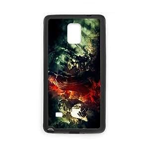 Batman Orígenes 13812 Funda Samsung Galaxy Note 4 Funda Caja del teléfono celular Negro I6F8PK9A Teléfono Caso Deportes Único