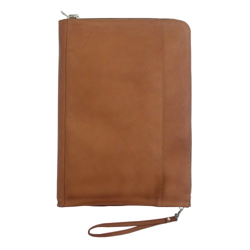 Piel Leather Zip Around Envelope, Saddle, One Size - Saddle Travel Zip Wallet