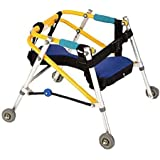 ADAHX Lightweight Folding Four Wheel Rollator Walker with Padded Seat for Toddlers, Kids, Teens with Special Needs, Cerebral