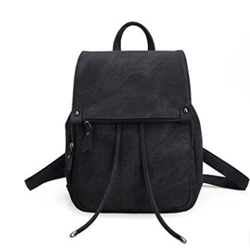 Sulmoe - Bolso mochila  para mujer rosa rosa negro
